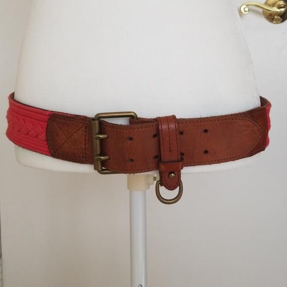 Ralph Lauren red leather belt